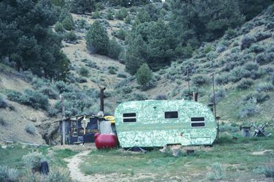 a small trailer in Nevada