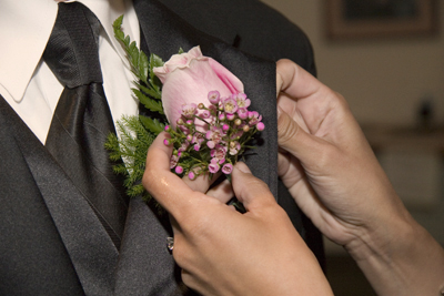 pinning the flower