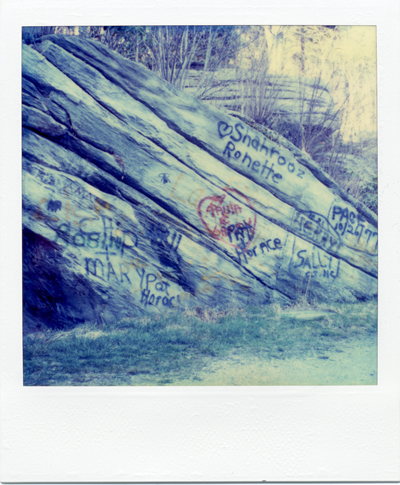 rocks with graffiti
