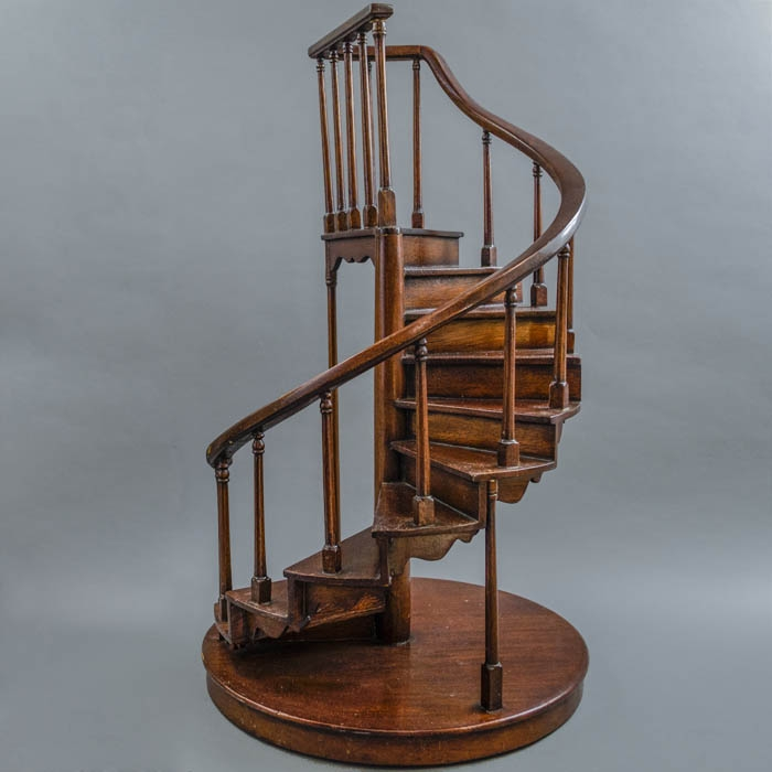 Decorative Arts Staircase Miniature Models Various Styles | Wooden Spiral Staircase For Sale | Solid Wood | 36 Inch Diameter | Unique | Curved | Closed Riser