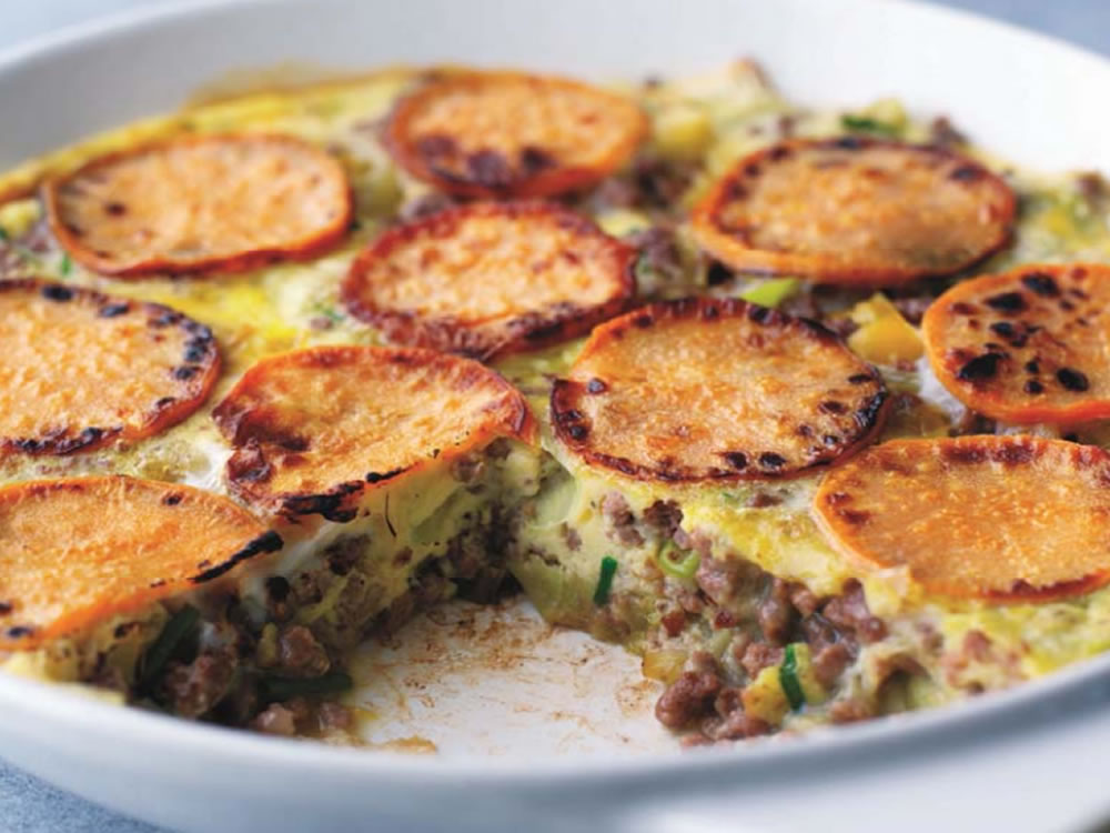 Mince & Sweet Potato Frittata