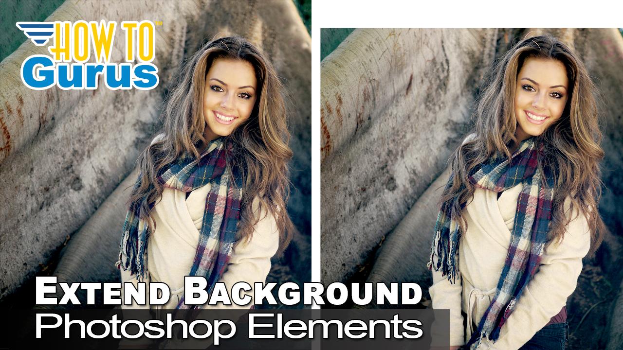 Extend background photoshop