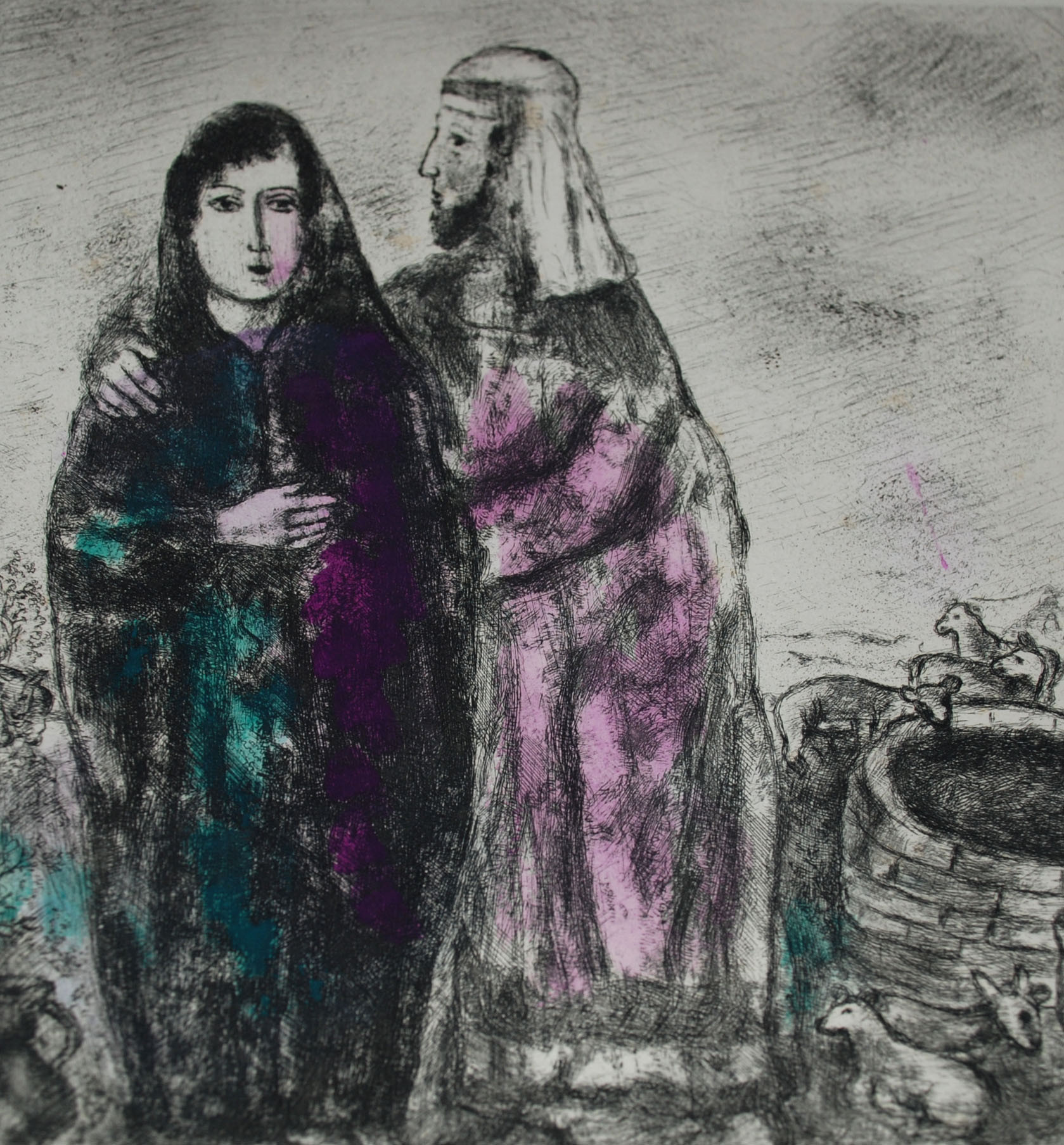 Meeting Of Jacob And Rachel From The Bible