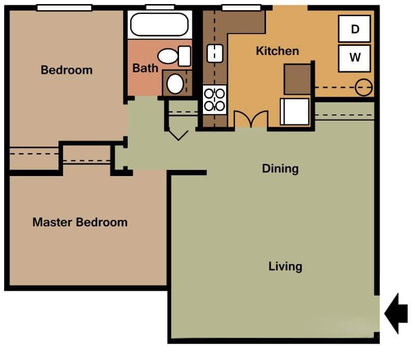750 Sq Ft Apartment: Georgetown Villas Apartments