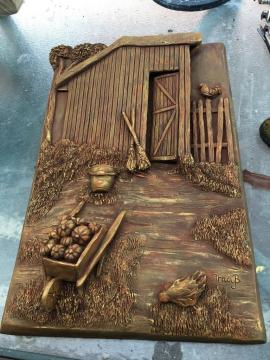 Tracy completed her first stoneware relief sculpture