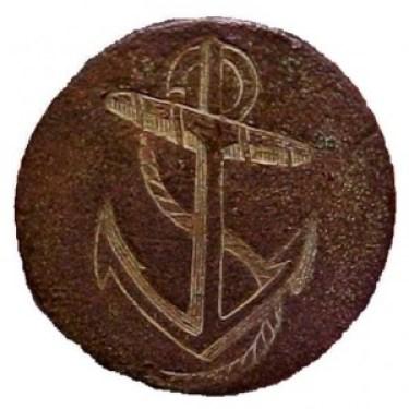 1774-87 Royal Navy Captain Button 21mm brass RJ Silverstein's georgewashingtoninauguralbuttons.com O