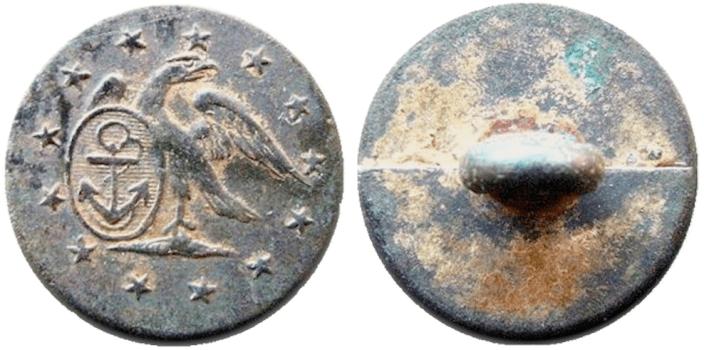 1798-1810 NA 6 Bv Unlisted, Early US Naval15mm Brass georgewashingtoninauguralbuttons.com O