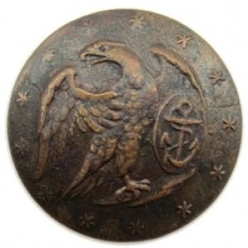 1810-30 Navy 24mm Gilt Brass 13 Six Pointed Stars RJ Silverstein's georgewashingtoninauguralbuttons.com O1