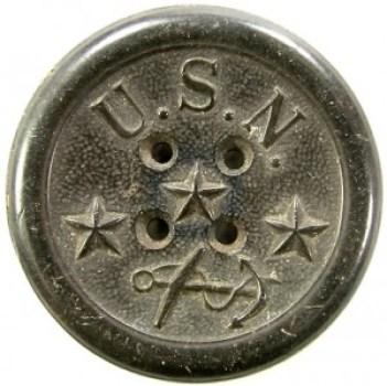 1851 Federal Navy 35mm Hard Rubber NA 137-Without Raised Rims RJ Silverstein's georgewashingtoninauguralbuttons.com O
