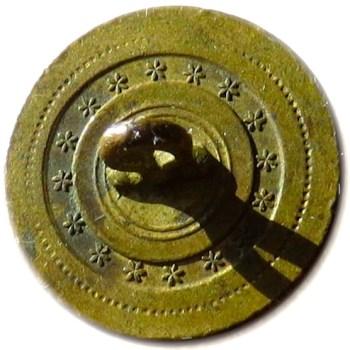 1808-21 Artillery 22.12mm Gilt Brass Albert's AY 50 gelrge washingtoninauguralbuttons.com R