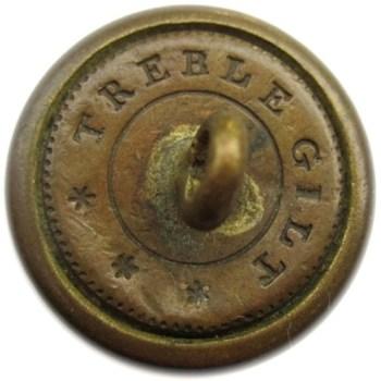 1820-1840's U.S. Artillery 20mm Gilt Brass Orig Shank Alberts AY 71- Tices AY206A.17 PD $50 10-10-12 1