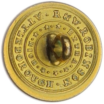 1830-40's Artillery Militia Brass 22mm. AY 59-A Unlist. Variant rj silverstein's georgewashingtoninauguralbuttons.com R