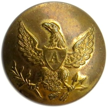 1834-48 Federal Artillery 18.10mm Gilt Brass Tice's AY 200 Unlisted PD $25. 06-06-13 O1