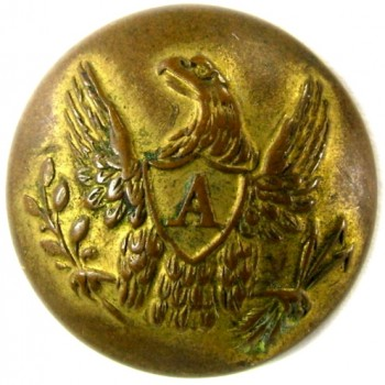 1840-50 Artillery 19.7mm Gild brass RJ Silverstein's georgewashingtoninauguralbuttons.com O