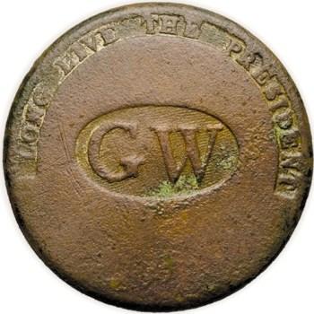 WI 11-C 34mm Brass RJ Silverstein's georgewashingtoninauguralbuttons.com C-21