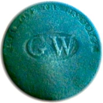 WI 11-C BRASS 34MM EBAY ESC. SHANK rj silverstein's georgewashingtoninauguralbuttons.com C-7
