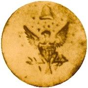 WI 28 Federal Eagle with 15 Stars 23mm Gilt Brass rj silverstein's georgewashingtoninauguralbuttons.com O