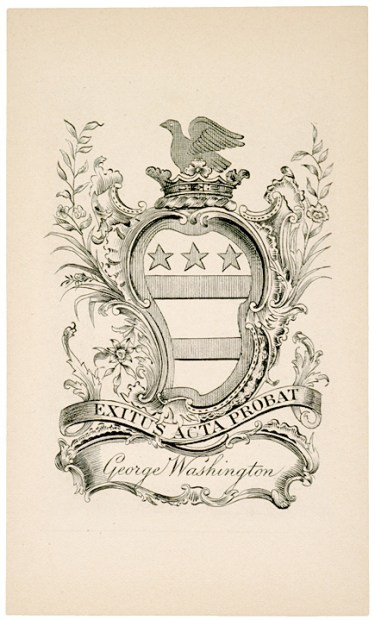 Washington Book plate