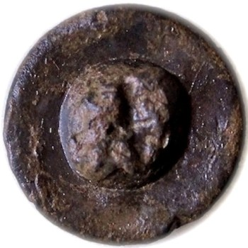 1779 Kings 1st American Loyalist Button 16.45mm Pewter robert silversteins loyalist BCL-14r