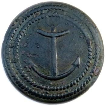 1789-1815 French Colonial Troops Similar to Albert's NA 3-B 27mm georgewashingtoninauguralbuttons.com O