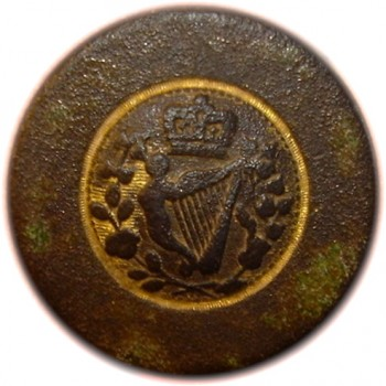 1793 King & Constitution Irish Loyalsit 23mm Gilt Brass LLTK-6-B