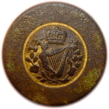 1793 King & Constitution Irish Loyalsit 23mm Gilt Brass LLTK-6-B