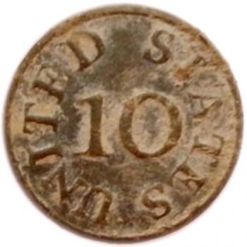 1796-1802 10th Infantry 20mm Pewter Dug in South Miss. georgewashingtoninauguralbuttons.com O