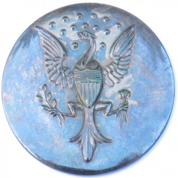 1800-20 Official Diplomat Albert's OD 27 RV 75 Orig. Shank RJ Silversteins georgewashingtoninauguralbuttons.com O