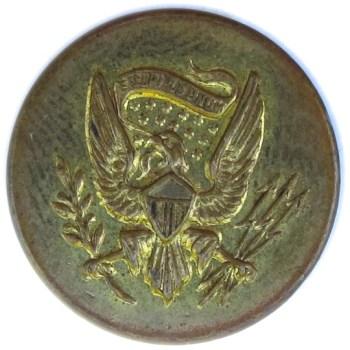 1800's Official Diplomat Service 17.99mm Gilt Brass Albert's OD 22 Unlisted BM RJ Silversteins georgewashingtoninauguralbuttons.com O
