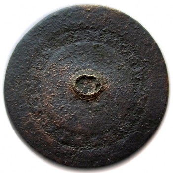 1805-07 Royal Navy Masters 22mm excav. in fort erie in water. georgewashingtoninauguralbuttons.com R