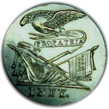 1810-12 US Infantry officer 26mm plated. georgewashingtoninauguralbuttons.com O