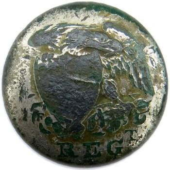 1810-20 U.S. Infantry Officers 21.78mm Silvered Copper Dug Orig. Bent Shank Albert's GI 51-G RV 50 B:M Armitage Phila RJ Silverstein's georgewashingtoninauguralbuttons.com O