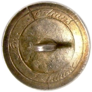 1811-24 Infantry 21.2mm Solid Silver j. Delarue- New Orleans convex. georgewashingtoninauguralbuttons.com r