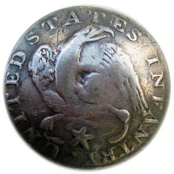 1812-15 Infantry Silver Plated Copper 24mm Convex Alberts GI 41-B. georgewashingtoninauguralbuttons.com o