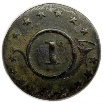 1813-15 1st Regiment of Rifleman 20mm. Brass georgewashingtoninauguralbuttons.com O