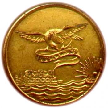 1815-30 Engineers 21mm Gilt Brass Tices EG 100b.1 georgewashingtoninauguralbuttons.com O