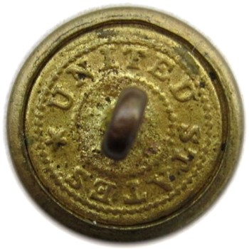 1820-30's U.S. Army Great Coat Buttons for General Service Infantry 21mm Brass Albert's GI 71Bv Arrows Pointed Outward Non Dug RJ Silversteins georgewashingtoninauguralbuttons.com O