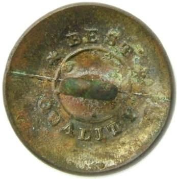 1820-30's federal infantry 19mm plated georgewashingtoninauguralbuttons.com R