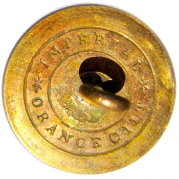 1820's Rifles Militia Gilded Brass Officer's pattern 22mm georgewashingtoninauguralbuttons.com R