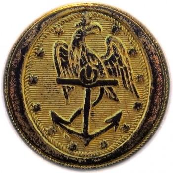 1830-50 US Navy 22.47 Gilt Brass Orig Shank Dug RJ Silversteins georgewashingtoninauguralbuttons.com O