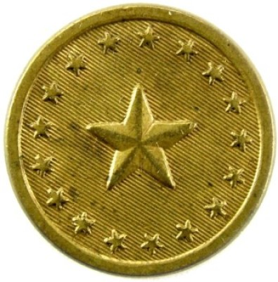 1830 Main Militia 21.6mm Gilt Brass ME 100B.3 ME 4A.1 RJ Silversteins georgewashingtoninauguralbuttons.com O