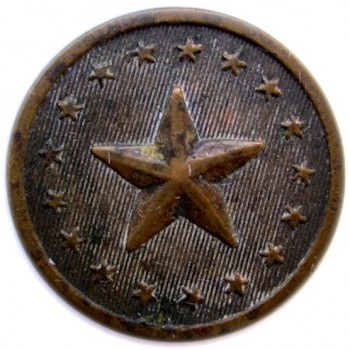 1830's Maine Militia Northern Star 21mm. Brass georgewashingtoninauguralbuttons.com O