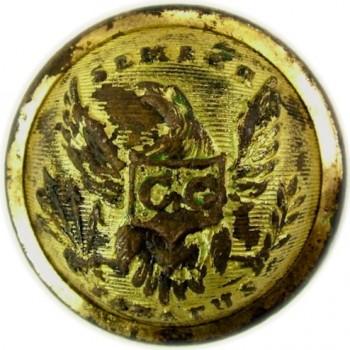 1838-46 Boston City Guard 22.5mm 3-piece officer gilded brass albert MS 56 georgewashingtoninauguralbuttons.com o