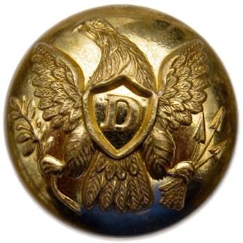 1840-61 Dragoons 20.02mm Gilt Brass DR 215 A.20 RJ silversteins georgewashingtoninauguralbuttons.com O