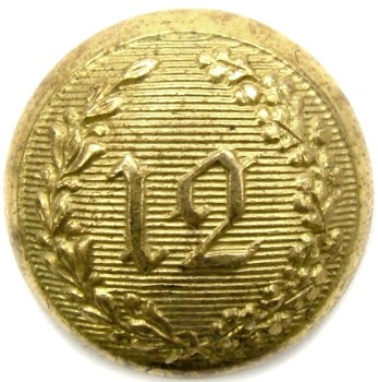 1840s -50s New York 12th Regiment Independence Guard New York City 13.4mm Gilt Brass Tice NY228 As1.1 PD $100. 05-07-12 O