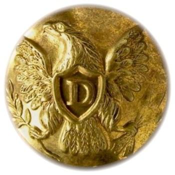 1847-48 Dragoons 19.3mm 2-piece low convex non dug D215A.11 georgewashingtoninauguralbuttons.com o