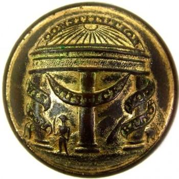 1850-61 Georgia 2 piece 24mm brass gild georgewashingtoninauguralbuttons.com o