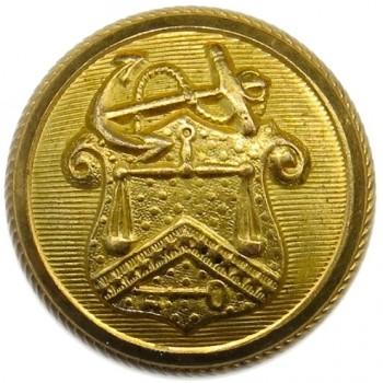 1850'S Revenue Marine 22.95mm Gilt Brass Albert's FD 4 : Tices RM 209 PD $75. 06-09-13 O