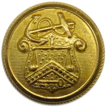 1850'S Revenue Marine 22.95mm Gilt Brass Albert's FD 4 : Tices RM 209 PD $75. 06-09-13 O