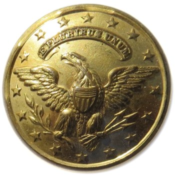 1853-63 U.S. Official Diplomat 25mm Gilt Brass OD 233 : OD 33 Non Dug Orig Shank O